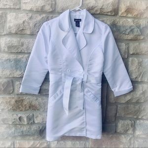 3/4 Sleeve White Trench Coat